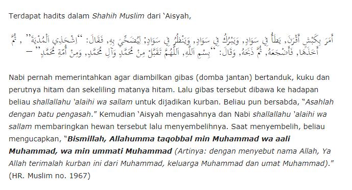 Doa Menyembelih Qurban
